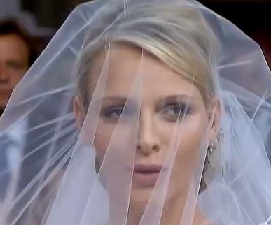 Charlène als Braut